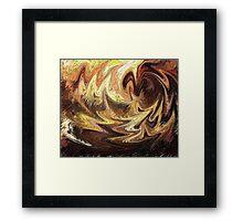 Terrestrial Brush Strokes  Framed Print
