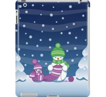 Knitting Snowman iPad Case/Skin