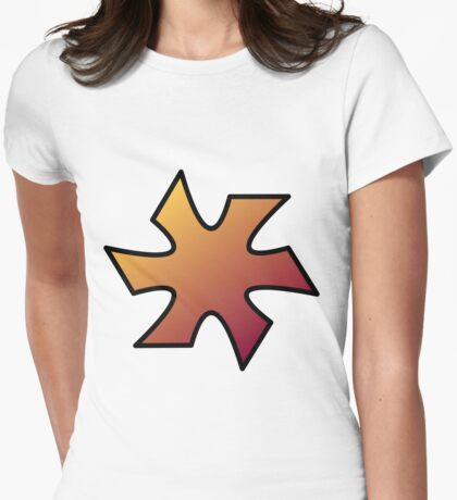 Ninjeye - Throwing Star Womens Fitted T-Shirt