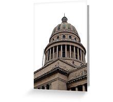 Capitol building, Havana, Cuba. Greeting Card