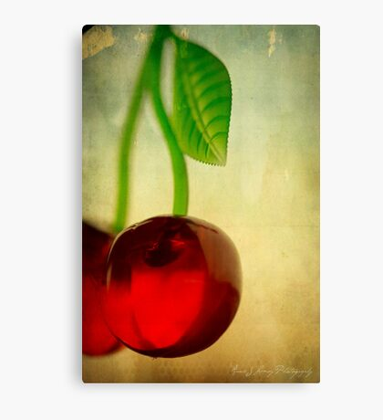 Vintage Cherries Canvas Print