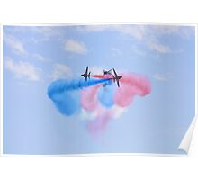 Red Arrows cross Poster