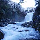 Ice Blue Waterfall by DeanWinfield