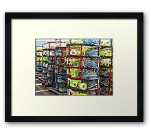 Crab Pots Galore Framed Print
