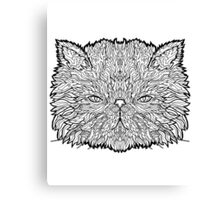 Persian Cat - Complicated Coloring Canvas Print