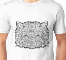 Persian Cat - Complicated Coloring Unisex T-Shirt