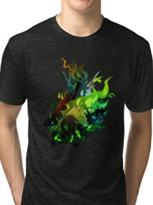 Queen Chrysalis with Changelings Tri-blend T-Shirt