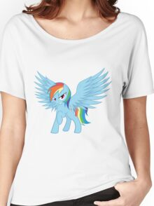 Rainbow Dash with Spread Wings Women's Relaxed Fit T-Shirt