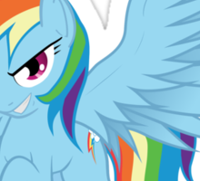 Rainbow Dash with Spread Wings Sticker