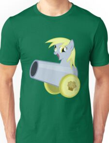 Derpy Hooves as a Muffin Cannon Unisex T-Shirt