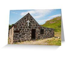 Building, Church, St. Columbas, Chapel, Canna, Inner Hebrides Greeting Card