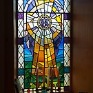 Building, Church, Stained Glass Window by Hugh McKean