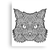 Ragamuffin Cat - Complicated Coloring Canvas Print