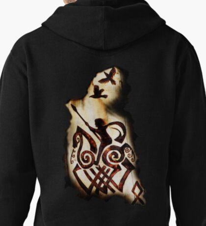 Odin, Sleipnir, Hugin and Munin t-shirt Pullover Hoodie
