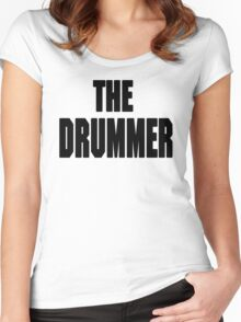 THE DRUMMER (DAVE GROHL / TAYLOR HAWKINS) Women's Fitted Scoop T-Shirt