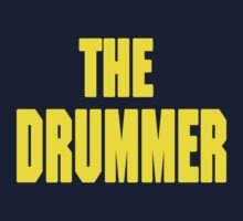 THE DRUMMER (DAVE GROHL / TAYLOR HAWKINS) YELLOW Kids Tee