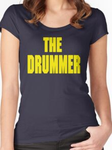 THE DRUMMER (DAVE GROHL / TAYLOR HAWKINS) YELLOW Women's Fitted Scoop T-Shirt