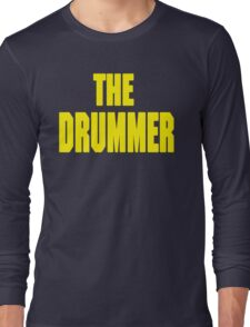 THE DRUMMER (DAVE GROHL / TAYLOR HAWKINS) YELLOW Long Sleeve T-Shirt