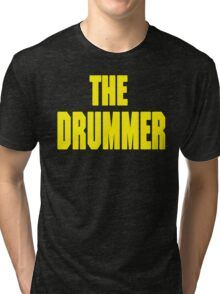 THE DRUMMER (DAVE GROHL / TAYLOR HAWKINS) YELLOW Tri-blend T-Shirt