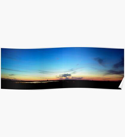 Sunset. Lake Kissimmee. Poster