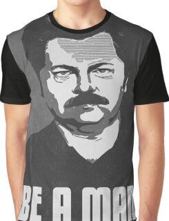Be A Man- Black/White  Graphic T-Shirt