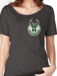 milwaukee bucks deer basketball Women's Relaxed Fit T-Shirt