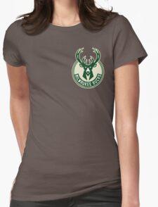 milwaukee bucks deer basketball Womens Fitted T-Shirt