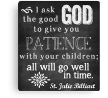 Patience with Children Canvas Print