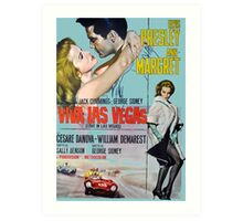Elvis in Viva Las Vegas(Italian promo) Art Print