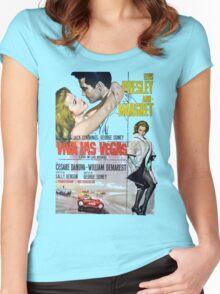 Elvis in Viva Las Vegas(Italian promo) Women's Fitted Scoop T-Shirt