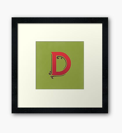 Uppercase D Framed Print