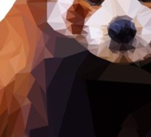 Red Panda Low Poly Geometric Triangles, Endangered Animal Art Sticker