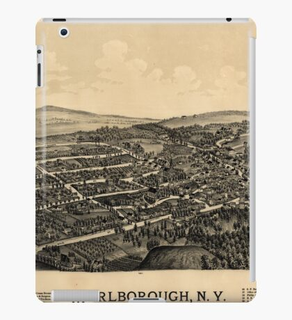 Panoramic Maps Marlborough NY iPad Case/Skin