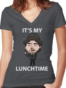 It's My Lunchtime Women's Fitted V-Neck T-Shirt