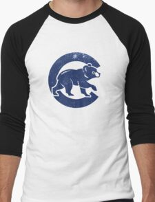 Chicago Cubs baseball Sport blue Men's Baseball ¾ T-Shirt