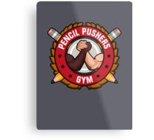 Pencil Pushers Gym Metal Print
