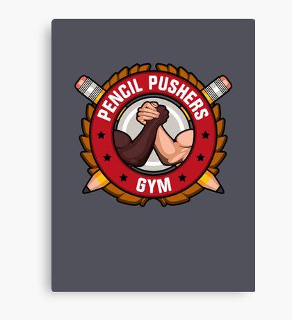 Pencil Pushers Gym Canvas Print