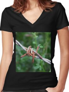 Can't Touch This Women's Fitted V-Neck T-Shirt
