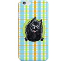 Schipperke Cute Carribean Plaid iPhone Case/Skin