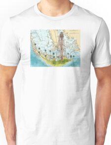 Sanibel Island Lighthouse FL Nautical Chart Peek Unisex T-Shirt
