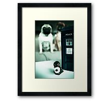 Polymer Pommie & The Tardis Framed Print