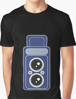 Blue Camer Graphic T-Shirt