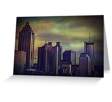 the colors of the darkening sky Greeting Card