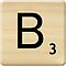 Scrabble Letter B by Scrabbler