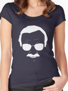 Stan Lee in White Women's Fitted Scoop T-Shirt