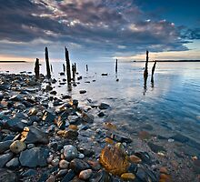 Morning light Lindisfarne by Phillip Dove