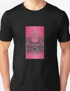 Moody trees beyond raspberry scented sky Unisex T-Shirt