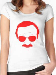 Stan Lee in Red Women's Fitted Scoop T-Shirt