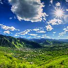 The Town of Aspen - Sunstar by Toby Harriman