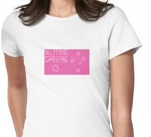 pink aussie flag olympic games supporter tee Womens Fitted T-Shirt